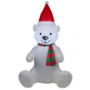 Opblaasbare Kerstbeer, verlichting, 120 cm
