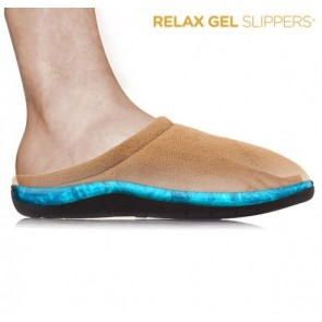 relax gel slippers beige
