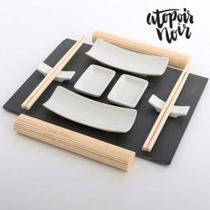 Sushi, Sushiset, Leisteen, Dienblad, Dienblad van Leisteen