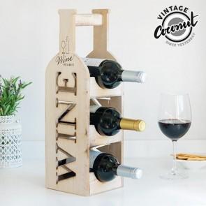 Vintage Houten Wijnrek