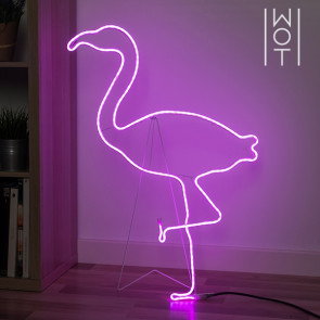LED Flamingo Wagon Trend