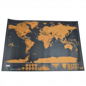 Wereldkaart Scratch Map - Kras Wereldkaart