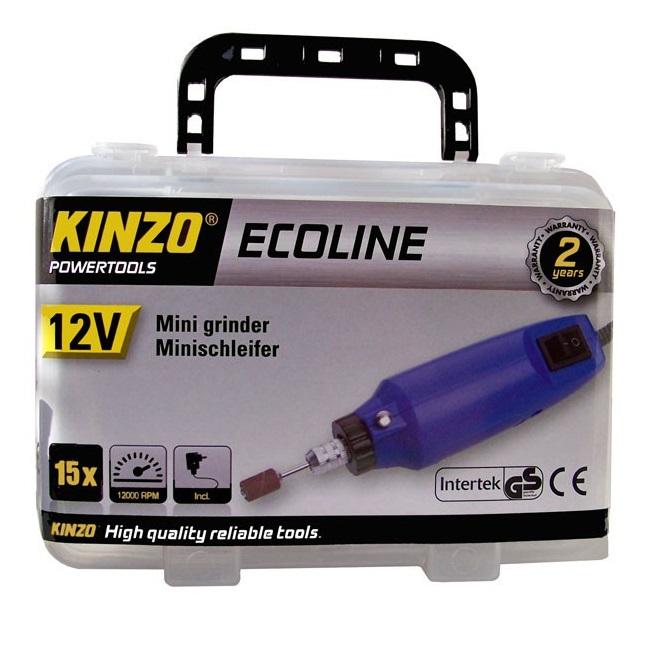 Kinzo elektrische mini slijper gereedschapset 12 V