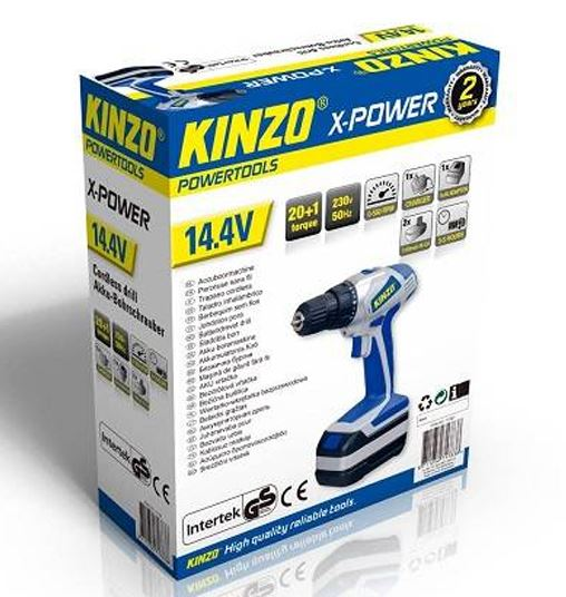 Kinzo X-power Li-ion accuboormachine 14.4v