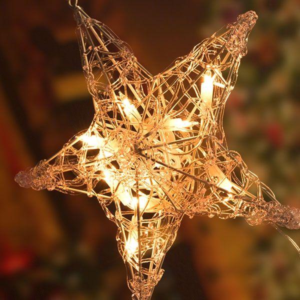 Ster acryl 30cm 10 lamps helder binnen