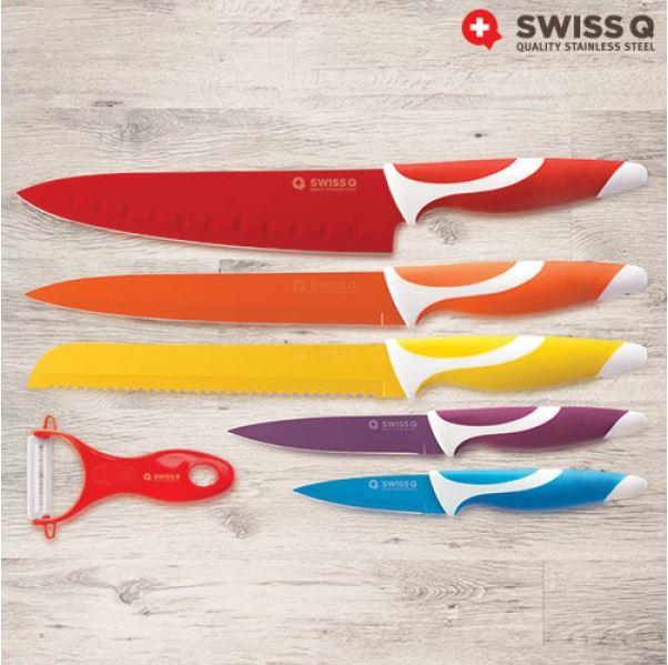 Swiss Q Keramische Gecoate Messenset