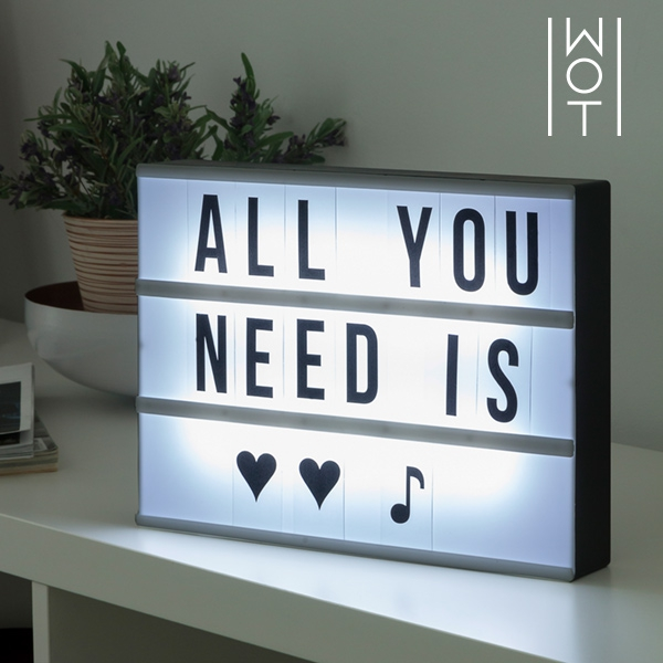 LED Lichtpaneel met Letters en Symbolen